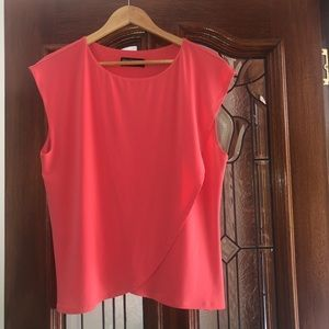Philosophy Size 18 Coral Coloured Stunning Top
